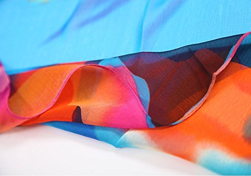 MissShorthair Womens Chiffon Swimwear Plus Size Bathing Suit Cover Ups Beach Sarong Wrap