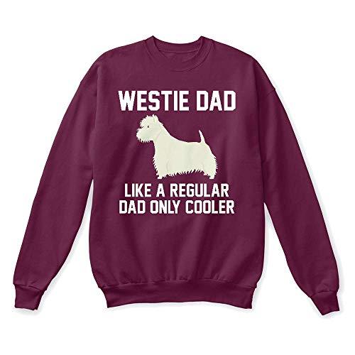 (Westie shirt. 2XL - Maroon Sweatshirt - Hanes Unisex Crewneck Sweatshirt)