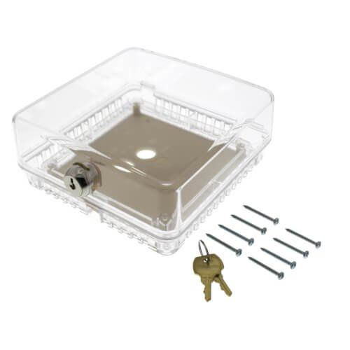Small Universal Thermostat Guard - Clear Cover (T87) - Clear Acrylic Thermostat