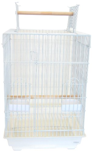 YML 3/4-Inch Bar Spacing Open Top Small Parrot Cage, 18-Inch