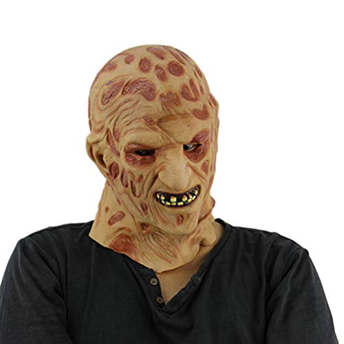 BESTOYARD Halloween Scary Horror Zombie Mask Cosplay Costume Latex Full Face Mask Fancydress Accessory for $<!--$15.59-->