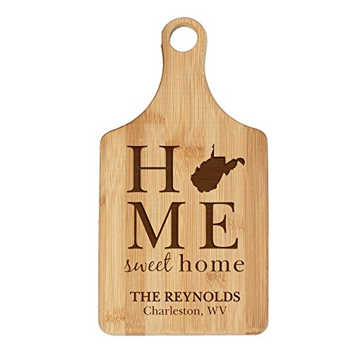 Personalized State Pride Bamboo Cutting Board - West Virginia, 7