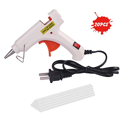 Suepr PDR Glue Gun, Hot Melt Glue Gun with 20 pcs Glue Sticks Home DIY Handmade Gewelry With Switch Indicator Mini Glue Gun for Handicrafts, Christmas Trees, Paper, Ceramics, Toy Models