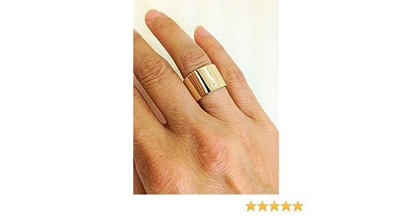 Amazon Com Handmade 10k Yellow Gold Wide Band 10 Karat Gold Extra