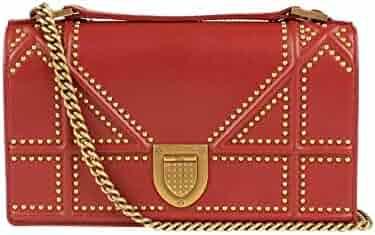 000ad119daa Chrisitan Dior Women'S Christian Dior 'Diorama' Rusty Lambskin Studded Pouch  Shoulder Bag Red