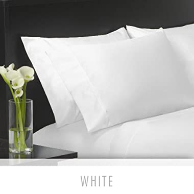 Charisma¨ 4-Piece Egyptian Cotton Sheet Set 400-Thread-count Ultra-soft Lustrous Sateen Weave (Queen) - White