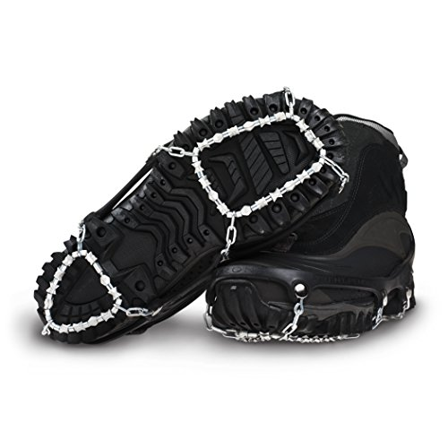 ICETrekkers Diamond Grip Traction Cleats, Large (Men's 9.5-12/Women's 10.5), Black