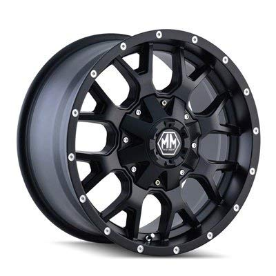 Mayhem Warrior 18 Black Wheel / Rim 6x120 & 6x5.5 with a 18mm Offset and a 78.1 Hub Bore. Partnumber 8015-8994MB18