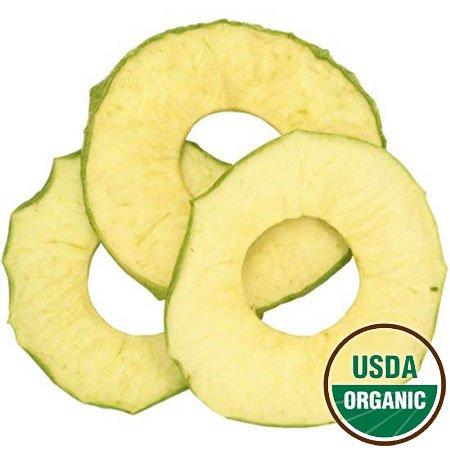Organic Dried Tart Apple Rings, 2.5lbs