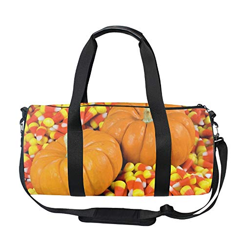 - Gym Sports Small Duffel Bag for Men and Women with Shoes Compartment - Y Halloween Gourd Candy