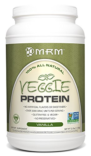 MRM All Natural Veggie Protein, Vanilla, 2.5 Pound