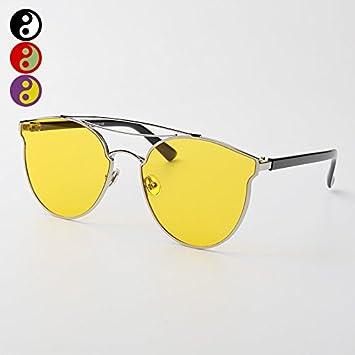VVIIYJ Gafas de Sol Mujer Color Transparente Gafas de Sol ...
