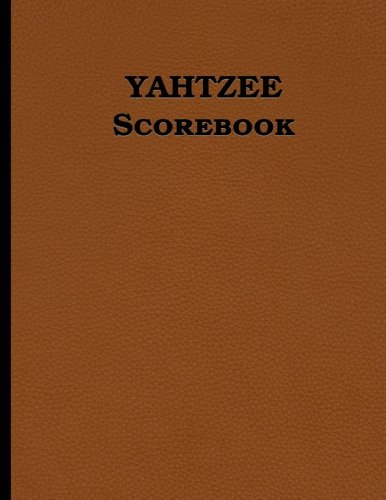 "Used, Yahtzee Scorebook: 100 pages (8.5"" x 11"", leather look for sale  Delivered anywhere in USA"