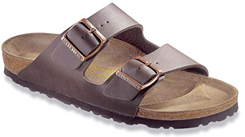Birkenstock Women's Arizona Sandal Dark Brown Birko-Flor Size 42 N - Womens Arizona Sandal