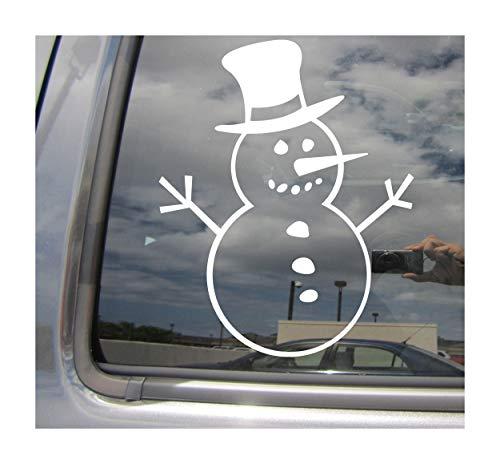Right Now Decals Snowman - Winter Frosty - Cars Trucks Moped Helmet Hard Hat Auto Automotive Craft Laptop Vinyl Decal Store Window Wall Sticker 10095 ()