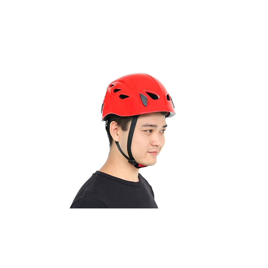 MagiDeal Safety Helmet Rock Climbing Mountaineering Tree Arborist Kayak Rappelling Rescue Protector Hard Hat 4 Colors