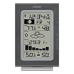La Crosse Technology WS-9037U-IT Atomic Forecast Station with Pressure History, Temperature, Humdity, and Moon phase