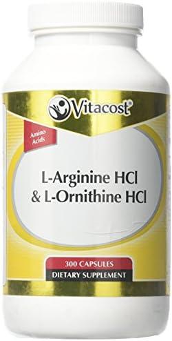 Vitacost L-Arginine HCl L-Ornithine — 300 Capsules