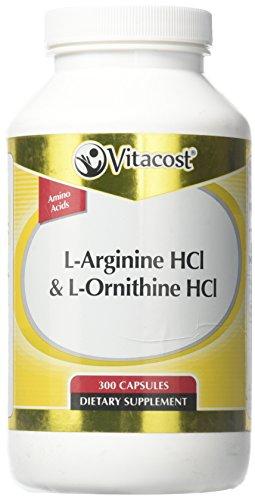 Vitacost L-Arginine HCl & L-Ornithine -- 300 Capsules