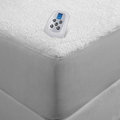 sherpa plush electric heated mattress