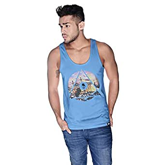 Creo Palestine Tank Top For Men - L, Blue