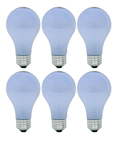 - GE Reveal 43 Watt, 565 Lumen A19 Light Bulb with Medium Base, 6 Pack