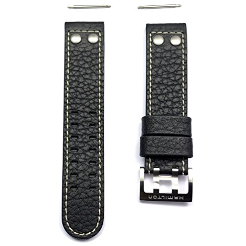 Authentic Hamilton Khaki X-Wind 22mm Black Leather Band Strap for H77616333, H77696793, H77616533