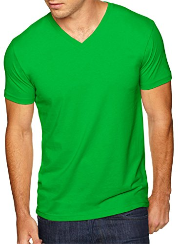 Next Level Apparel 6440 Mens Premium Fitted Sueded V-Neck Tee - Envy, Large
