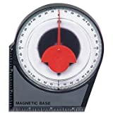 Dial Gauge Angle Finder Magnetic Protractor with Conversion Chart by CenTech
