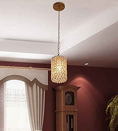 The Brighter Side Crystal Antique Hanging Light (Golden, Medium) Ceiling Lights at amazon