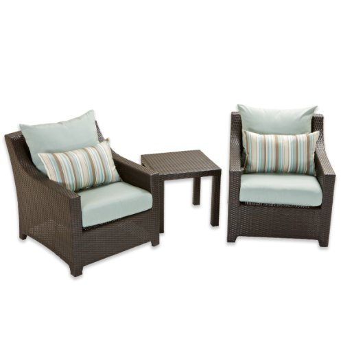 RST Outdoor RST Brands OP-PECLB2T-BLS-K Deco Club Chairs & Side Table - Bliss