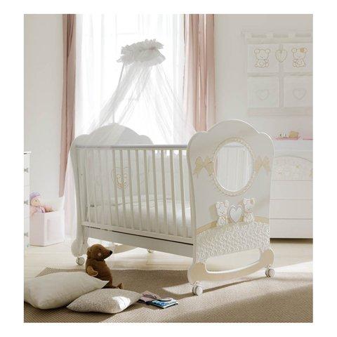 Babybett Kinderbett aus Holz Tulipano Doimo Cityline Bianco-Tortora