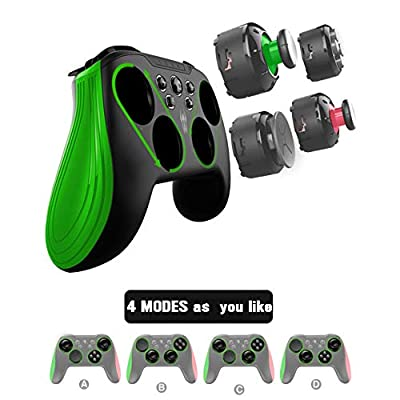 BestOff Wireless Controller for Switch/PC/Android Tablet and Mobilephone, Modular Gamepad with Interchangeable Joystick Modules, Customizable Programmable Turbo Buttons and Backside Key