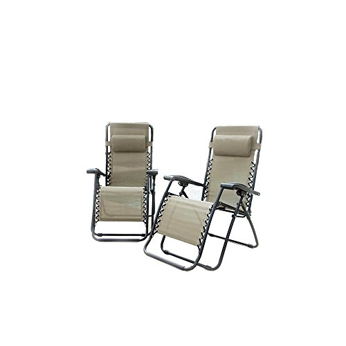 Gray Powder Coated Frame (Caravan Sports - Two Pieces Infinity Zero Gravity Chair, Beige)