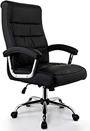 Cadeira Escritório Presidente Genebra Preta Mola Ensacada Conforsit 4650