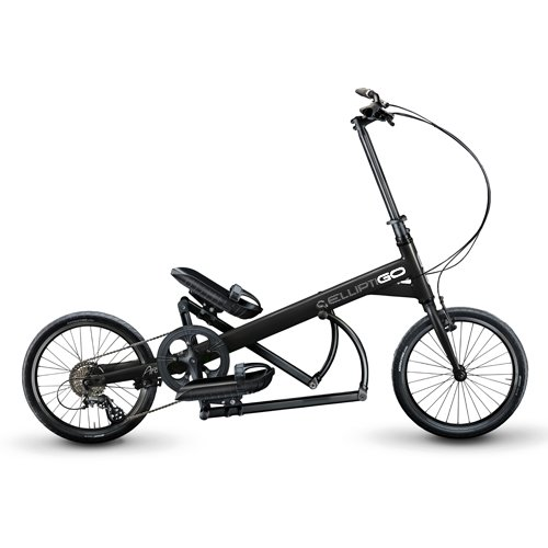 ElliptiGO Arc - The World's First Outdoor Elliptical Bike (Black)