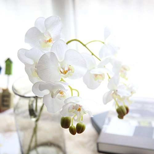 YJYdada Artificial Silk Fake Flowers Phalaenopsis Wedding Bouquet Party Home Decor (A)