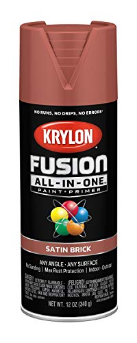 Krylon K02733007 Fusion All-in-One Spray Paint, Brick