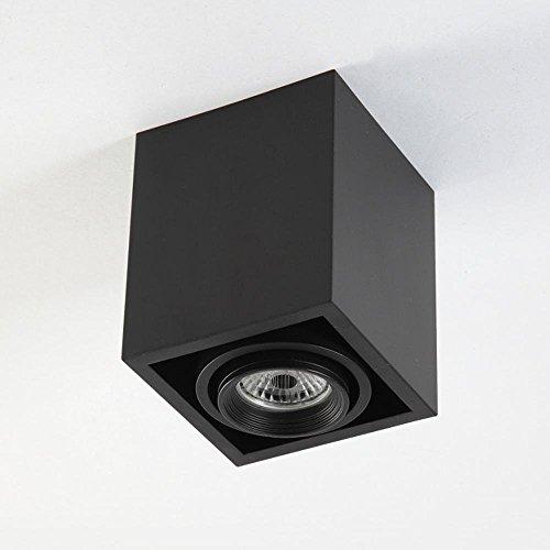 Élégance moderne Plafonnier LED Plafonnier Spot à LED Conception carrée Rotatif Ajustable 5W Downlight GU10 [Classe d'économie d'énergie A]