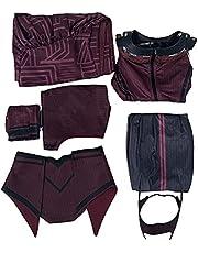 Scarlet Witch Cosplay kostuum, (onvoorspelbare kennis) Halloween Scarlet Witch cosplay kleding (accessoires, foto's) heks set