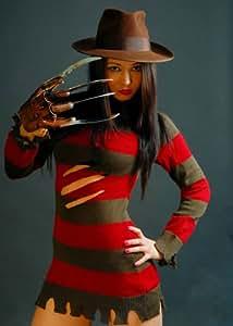 Ladies Sexy Miss Freddy Krueger Costume (struts-8736) - Women: 12 (disfraz)