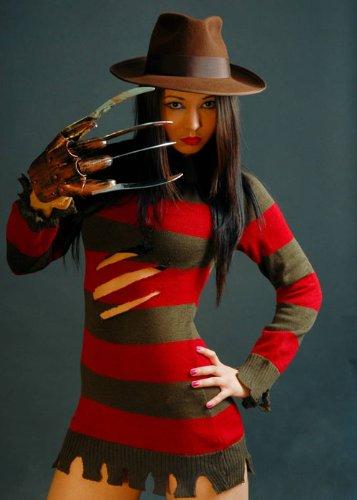 Ladies Sexy disfraz de Freddy Krueger M (UK 12): Amazon.es ...