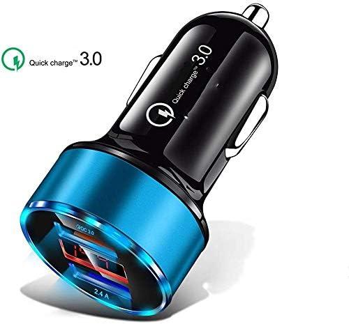 車の充電器、デュアル高速USBカーIOS&Android用アダプター、より多くの携帯電話とタブレットデバイス