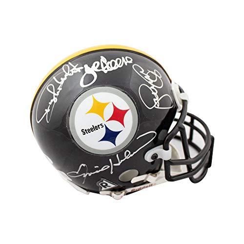 Steel Curtain Autographed Pittsburgh Steelers Authentic Mini Helmet PSA/DNA LOA ()