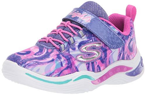 Skechers Kids Girls' Power Petals-FLOWERSPARK Sneaker, Purple/Multi, 12 Medium US Little Kid ()