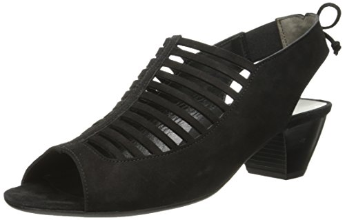 Paul Green Women's Trisha Dress Sandal Black Suede buy cheap fashionable cheap price outlet sale 100% authentic online visit cheap price outlet fast delivery px0k4LVh