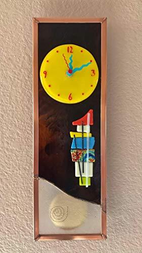 Deco Fusion Pendulum Glass Wall Clock ()