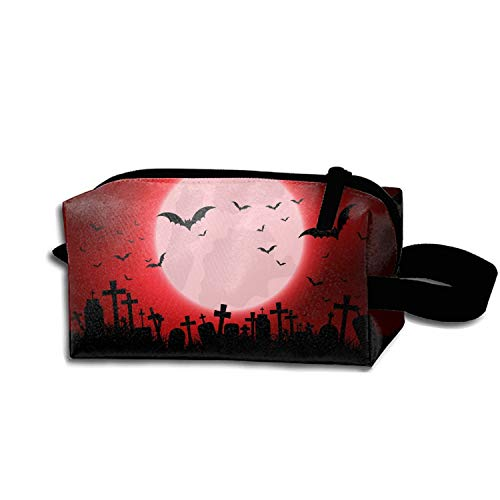 Halloween Evil Eyes Cosmetic Bag Portable Ladies Durable Travel Makeup Bag ()