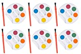 Mini Kids Watercolor Paint Sets with Brush - 24 sets