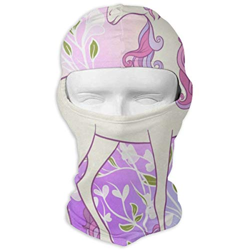 Balaclava Unicorn Love Flowers Fantastic Face Mask for Youth Motorcycling & Winter Sports ()